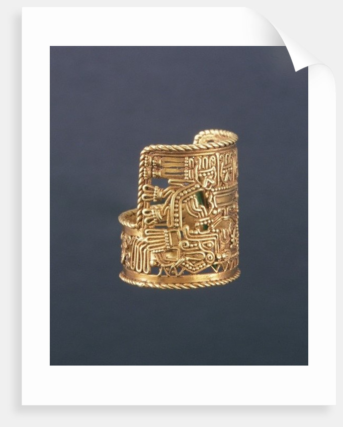 Puebla-style ring by Mixtec