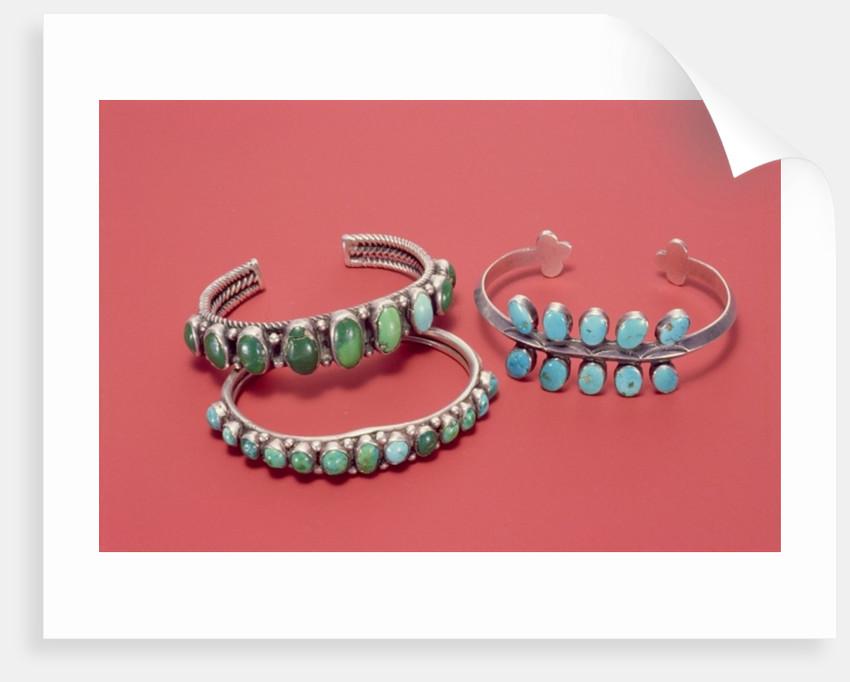 Navajo bracelets by American School