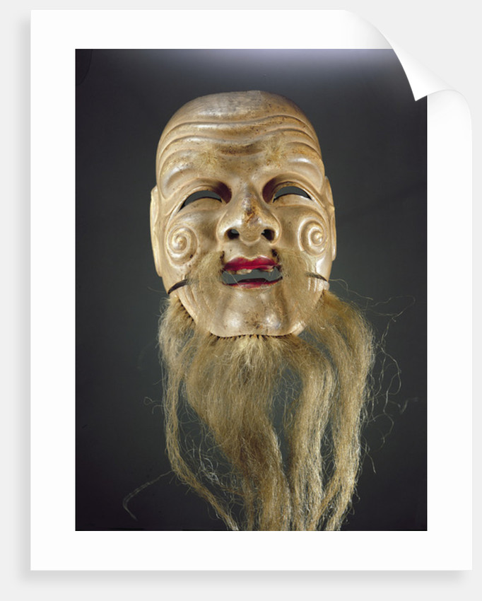 Old Man Mask, Noh Theatre by Japanese School