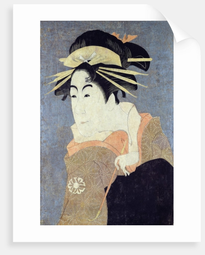 Matsumoto Yonesaburo in the role of the courtesan Kewaizaka No Shosho by Toshusai Sharaku