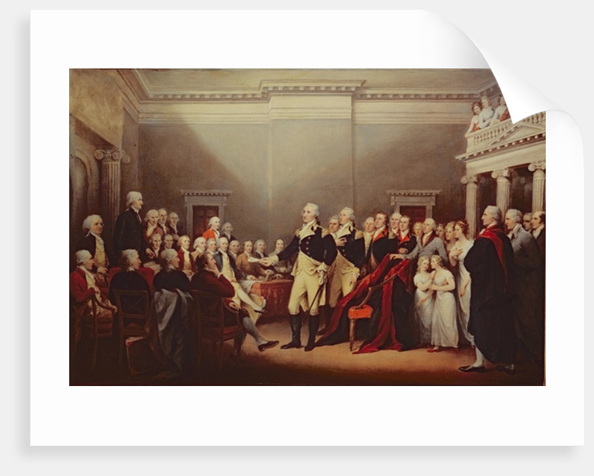 The Resignation of George Washington on 23rd December 1783 by John Trumbull