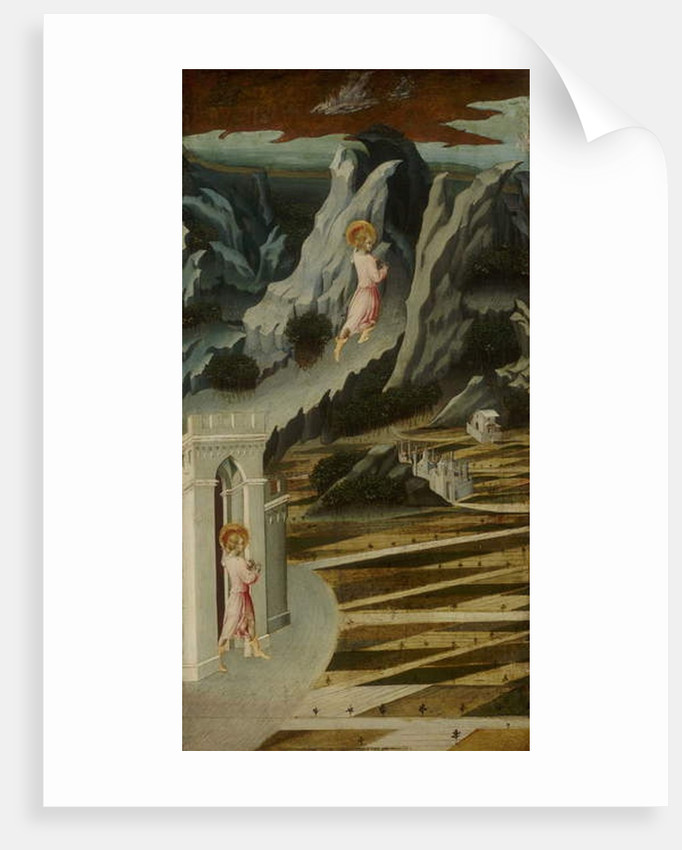 Saint John the Baptist Entering the Wilderness, 1455-60 by Giovanni di Paolo