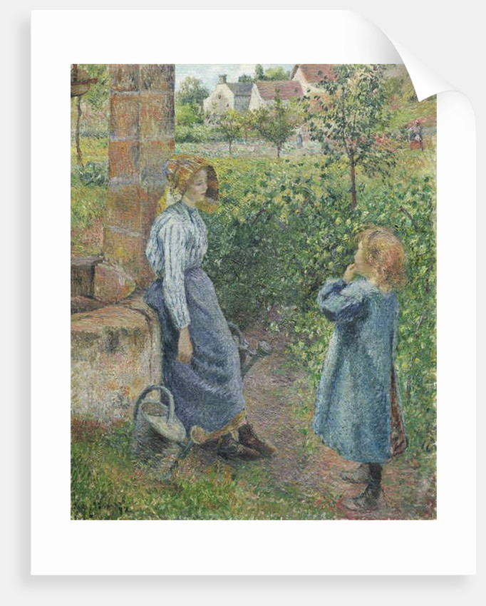 Woman and Child at the Well, 1882 by Camille Pissarro