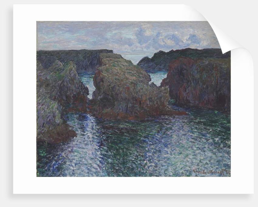 Rocks at Port-Goulphar, Belle-Île, 1886 by Claude Monet