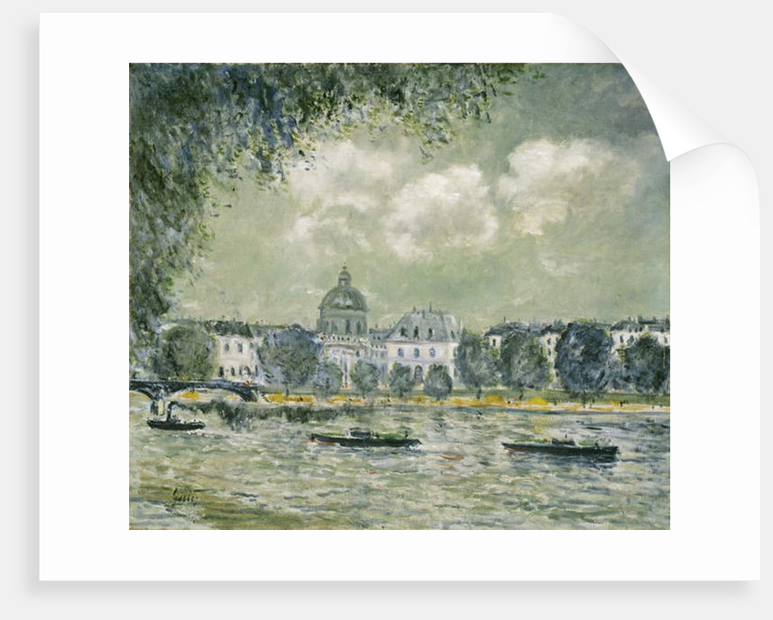 Landscape along the Seine with the Institut de France and the Pont des Arts, c.1875 by Alfred Sisley