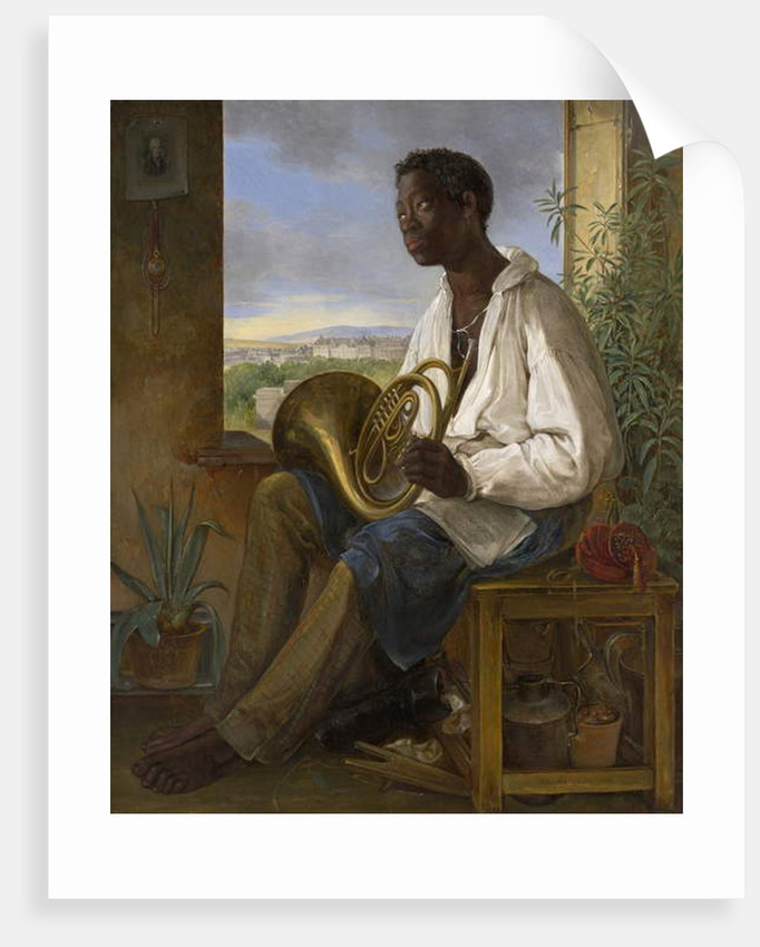 Portrait of a Gardener and Horn Player in the Household of the Emperor Francis I, 1836 by Albert Schindler