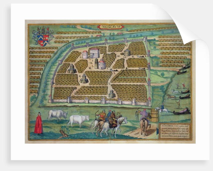 Map of Moscow by Joris Hoefnagel