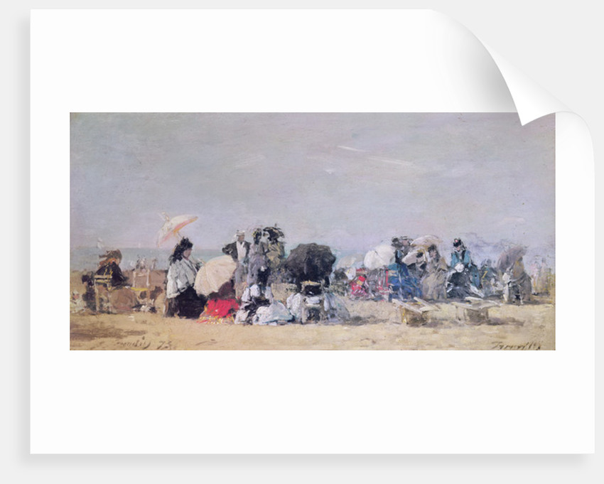 Beach Scene, Trouville by Eugene Louis Boudin