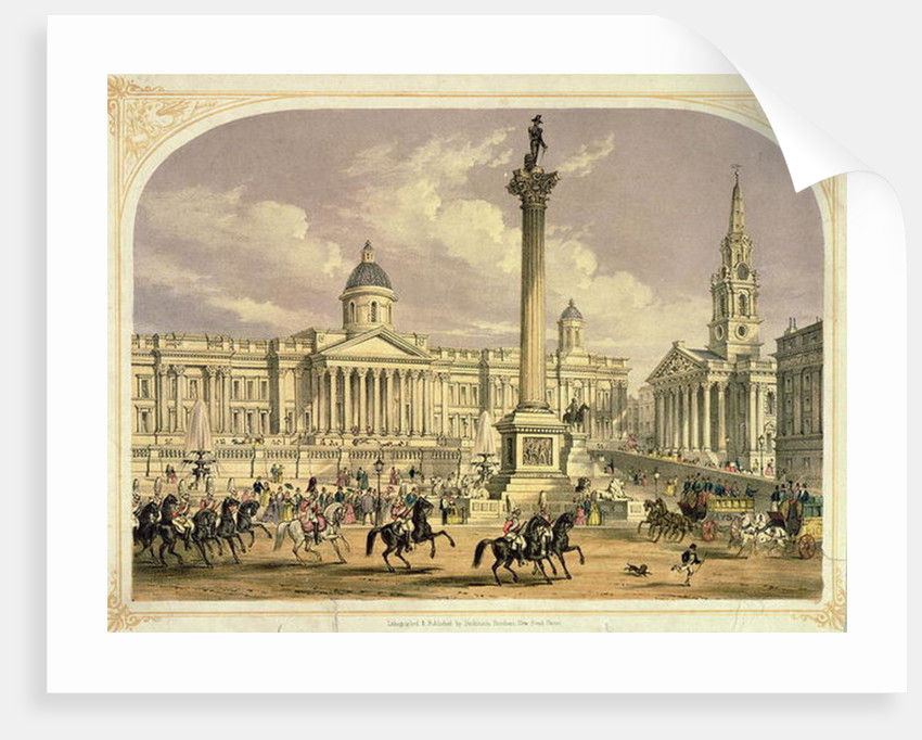 Trafalgar Square, published by the Dickinson Brothers by English School