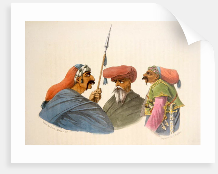 Courdish Chiefs from 'A Second Journey through Persia, 1810-16', engraved by Theodore H.A. Fielding by James Justinian Morier