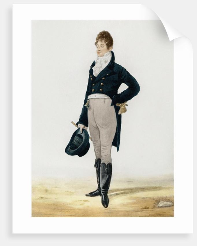 Portrait of George 'Beau' Brummell by Robert Dighton