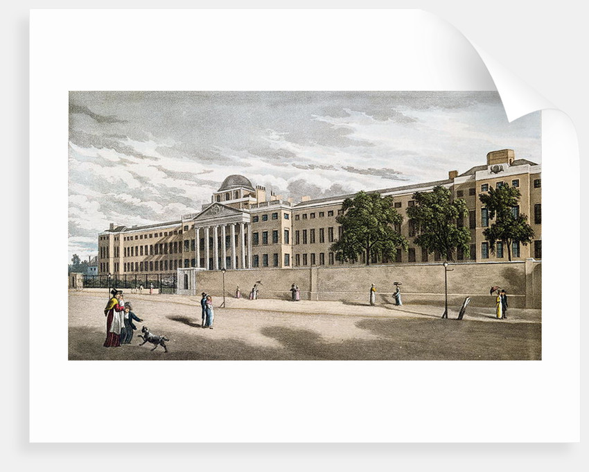 New Bethlem Hospital, St. George's Fields by English School