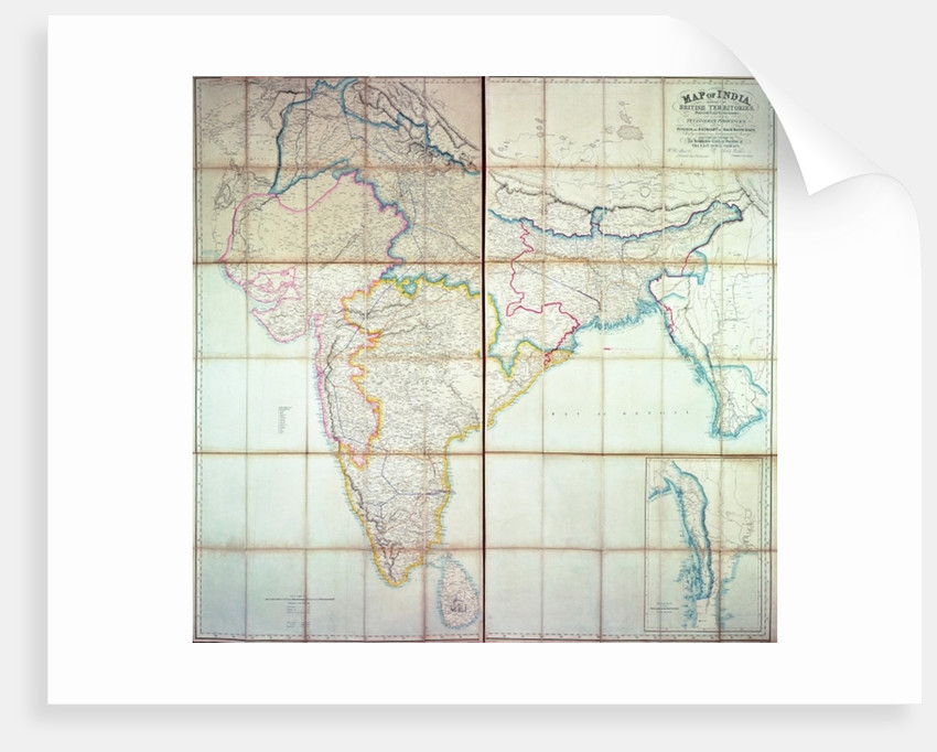 Map of India by English School