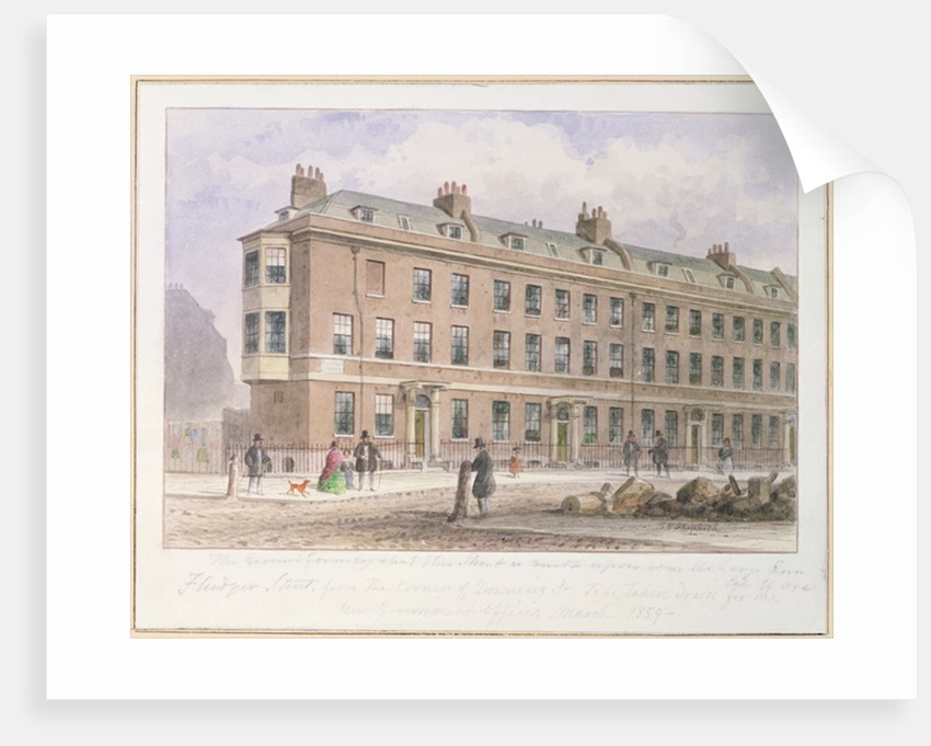 View of Fludyer Street looking towards Parliament Street by Thomas Hosmer Shepherd
