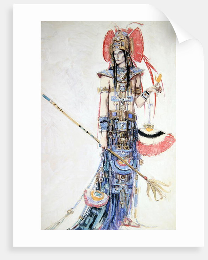 Costume Design for 'Montezuma' by Charles Ricketts