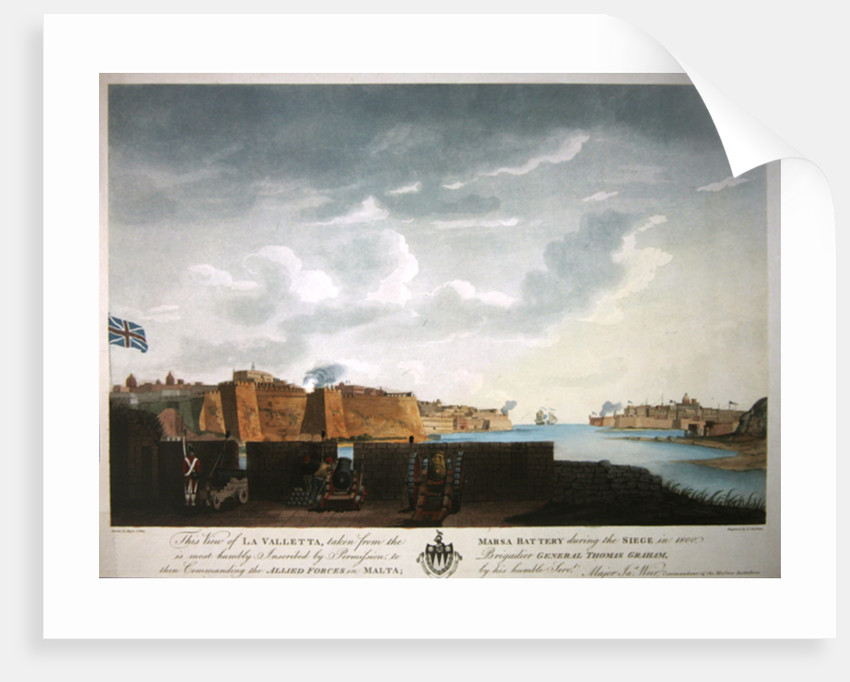View of La Valletta during the siege of 1800 by Captain James Weir