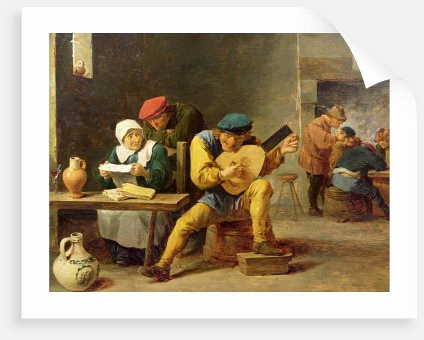 Peasants Making Music in an Inn by David the Younger Teniers