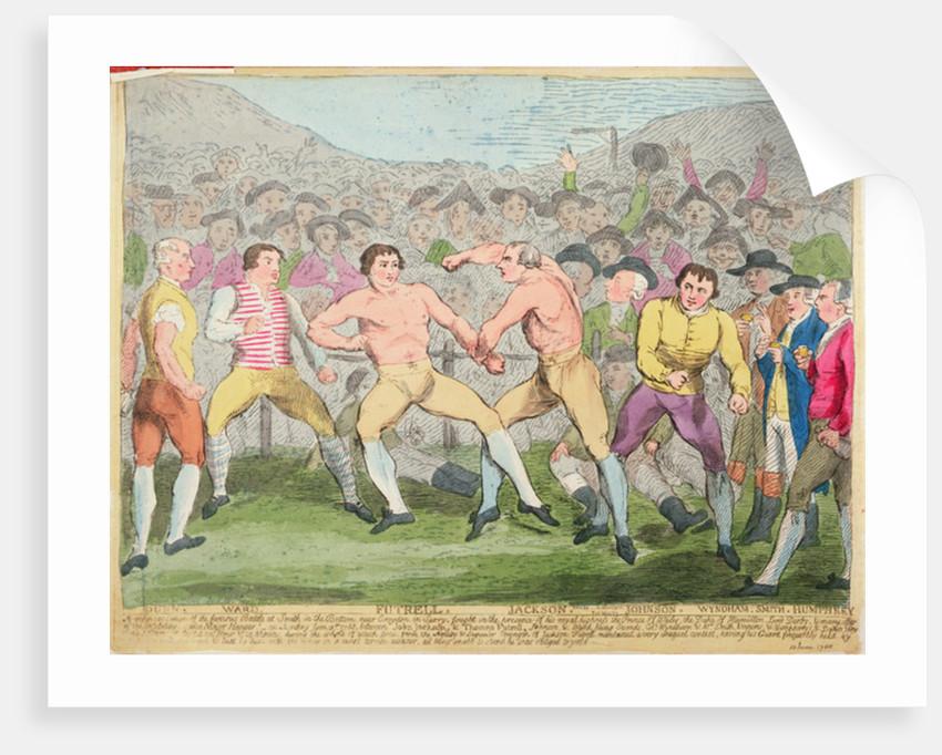 Boxing Match by English School