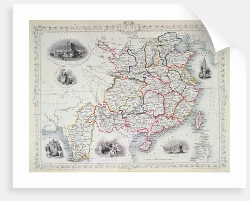 Map of China and Birmah by John Rapkin