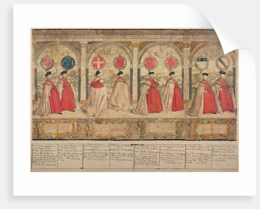Imaginary Composite Procession of the Order of the Garter at Windsor by English School