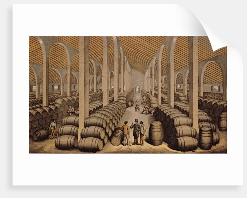 Wine Cellar at Jerez de la Frontera by Spanish School