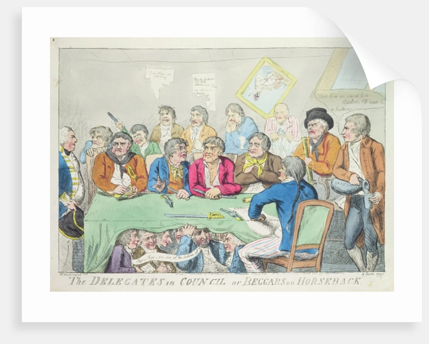 The delegates in council or beggars on horseback by Isaac Cruikshank