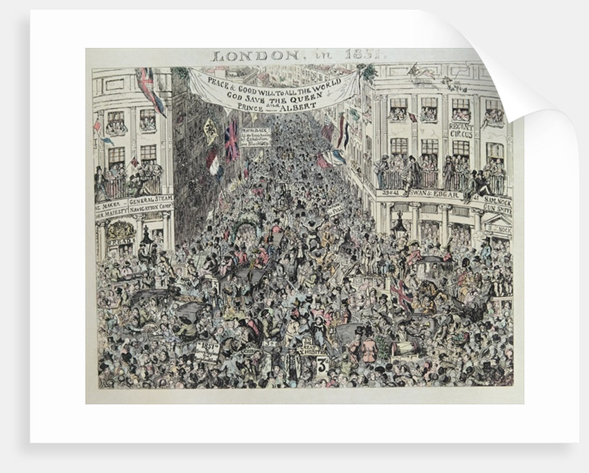 Mayhew's Great Exhibiton, London by George Cruikshank