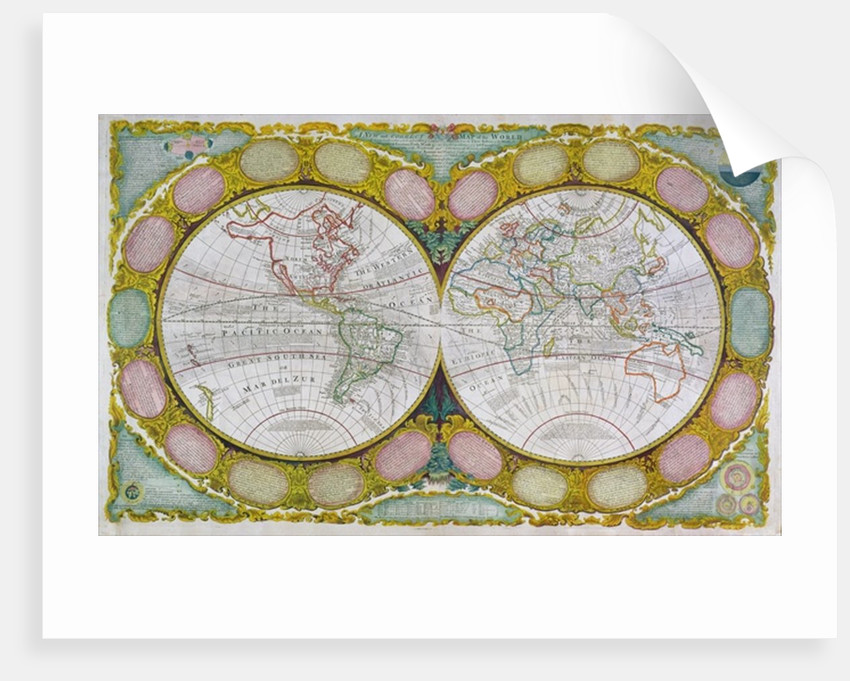 A New and Correct Map of the World by Robert Wilkinson