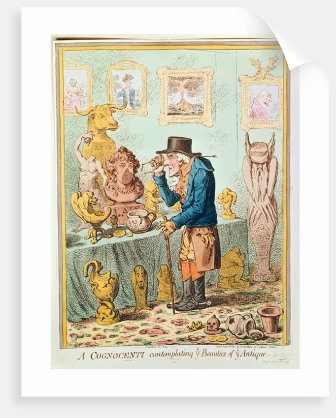 A Cognocenti Contemplating Ye Beauties of Ye Antique, published by Hannah Humphrey by James Gillray