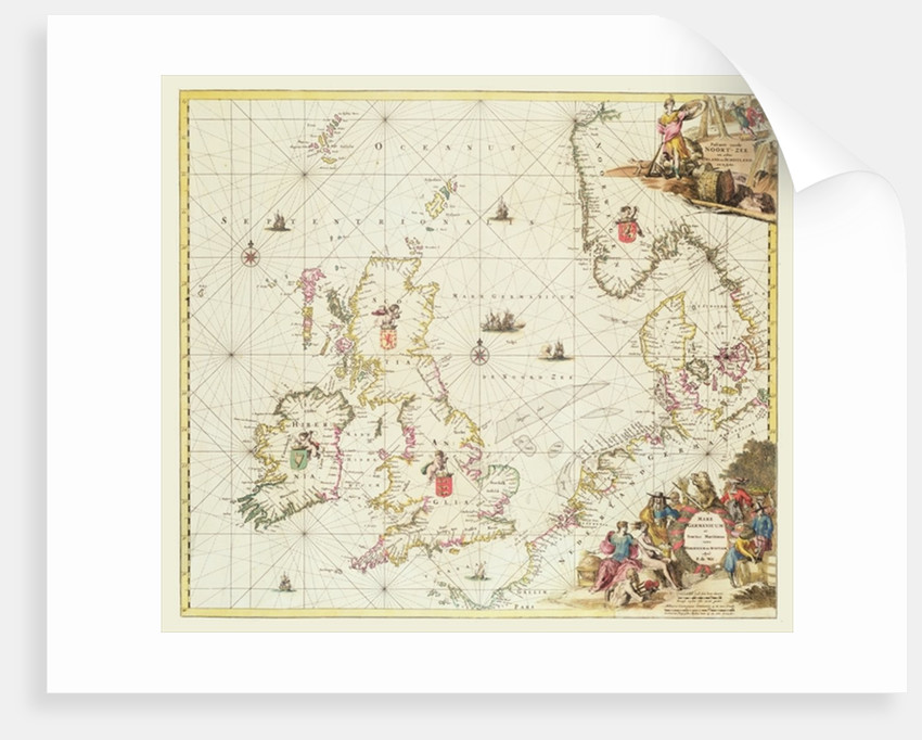 Map of the North Sea by Frederick de Wit
