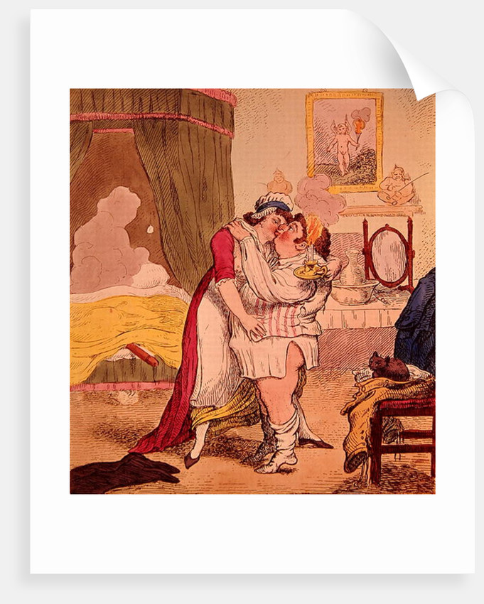 Caricature satirising the relationship of Charles James Fox and Elizabeth Armistead by English School