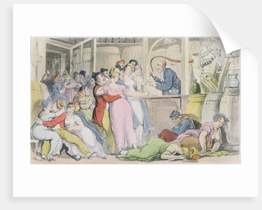 Illustration from 'The English Dance of Death' by William Combe by Thomas Rowlandson