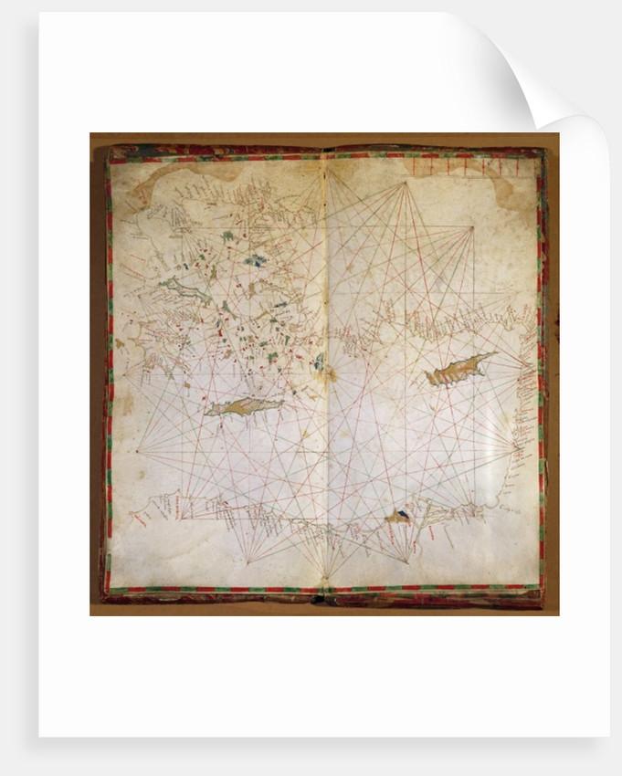 Map of the Eastern Mediterranean by Grazioso Benincasa