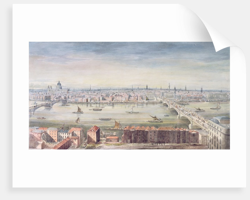 A View of London from St. Paul's to the Custom House by Gideon Yates