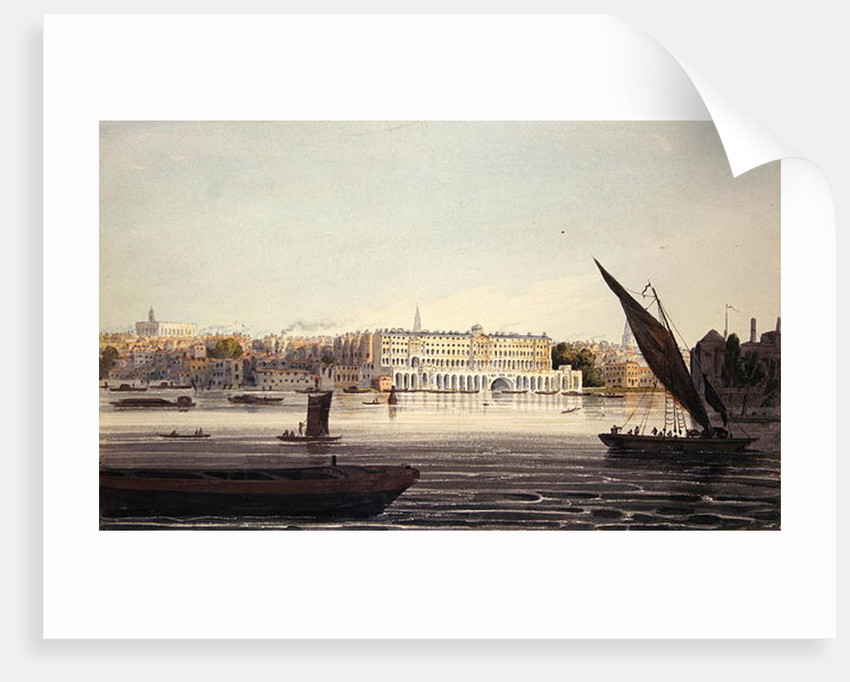 View of the River Front of New Somerset House by English School