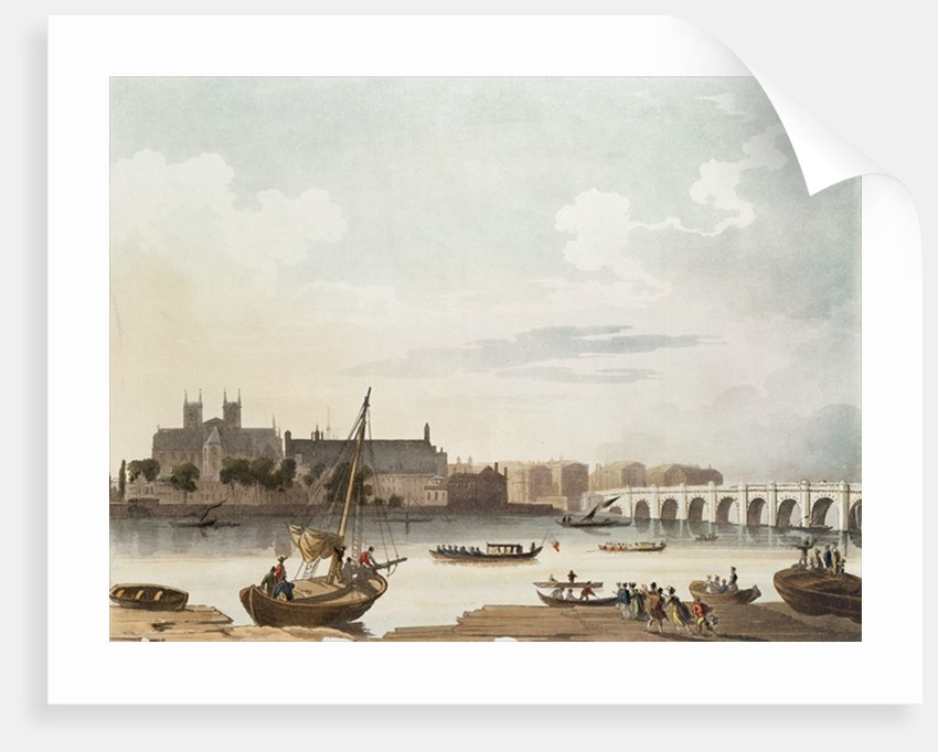 View of Westminster and the Bridge by English School