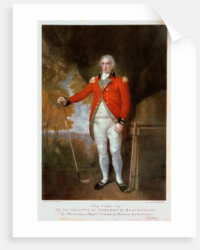 Portrait of Henry Callender, engraved by Walter Alfred Cox by Lemuel Francis Abbott