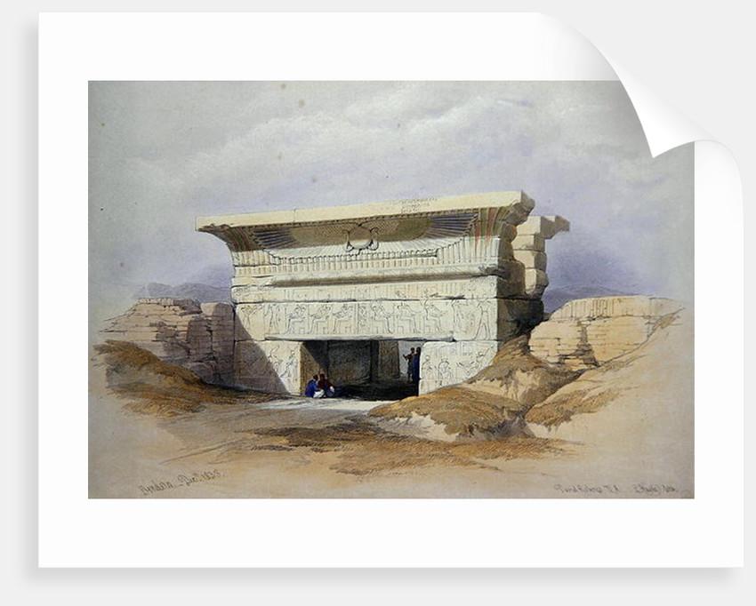North Gate at Dendarah by David Roberts