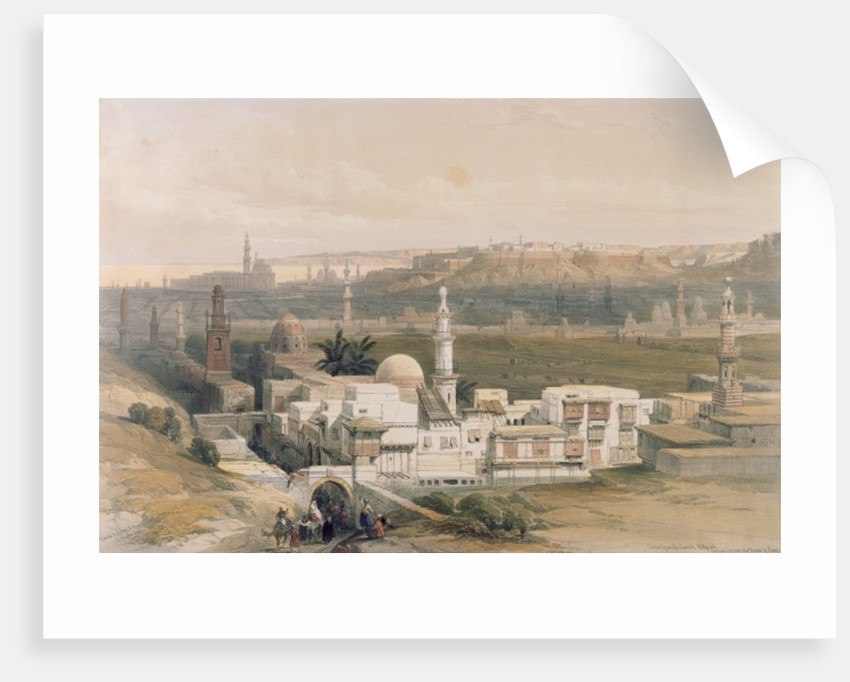 Cairo from the Gate of Citizenib, looking towards the Desert of Suez by David Roberts