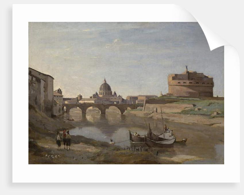 Castel Sant'Angelo, Rome, c.1830-32 by Jean Baptiste Camille Corot