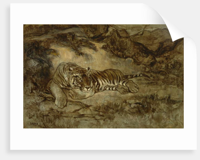 Tiger at Rest, c.1850-70 by Antoine Louis Barye