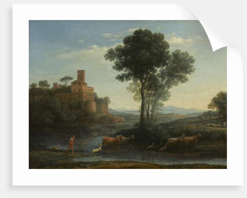 Landscape with the Voyage of Jacob, 1677 by Claude Lorrain