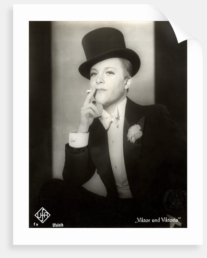 Portrait of Renate Mueller in the film Viktor and Viktoria by German Photographer