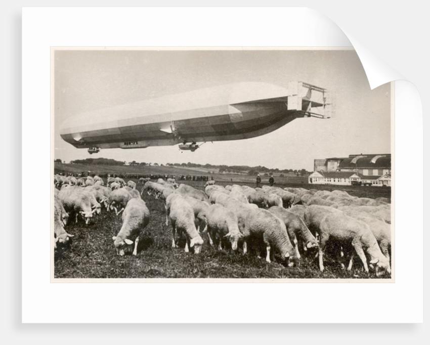 The passenger Zeppelin LZ10, Schwaben in flight by German Photographer