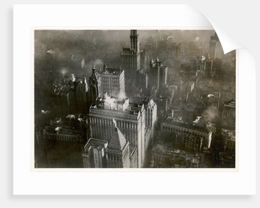 Aerial photo of downtown Manhattan, taken from the LZ 127 Graf Zeppelin, New York 1928 by German Photographer