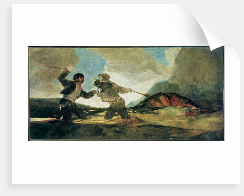 Duel with Clubs by Francisco Jose de Goya y Lucientes
