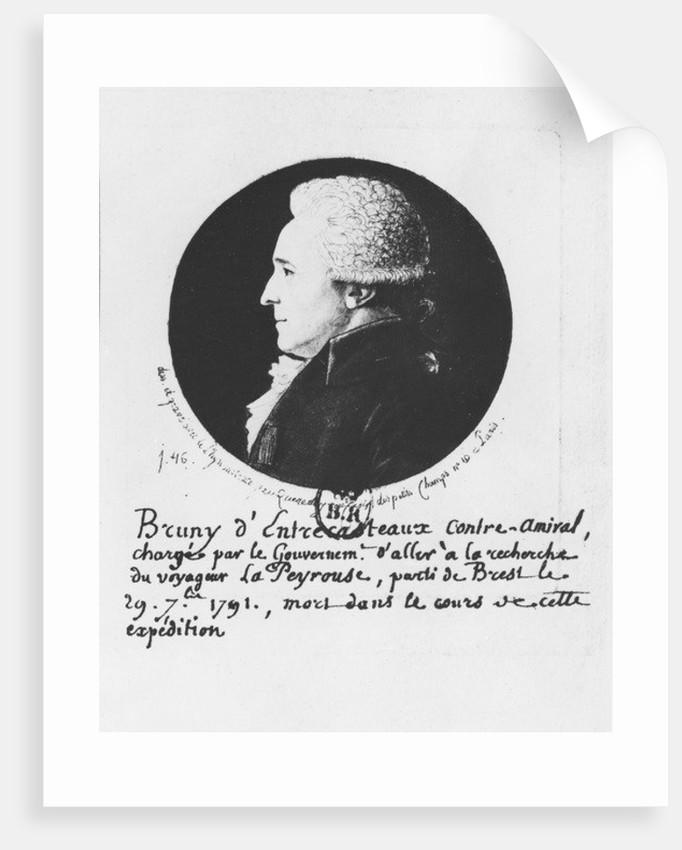 Antoine Raymond Joseph de Bruni d'Entrecasteaux by Edme Quenedey