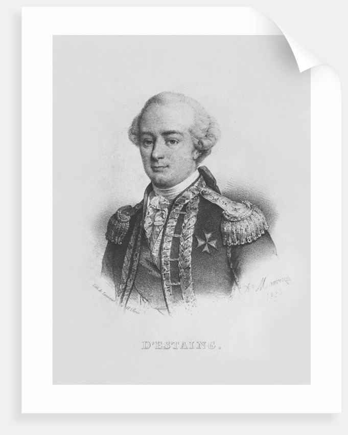 Charles Hector, comte d'Estaing by Alfred Leon Lemercier