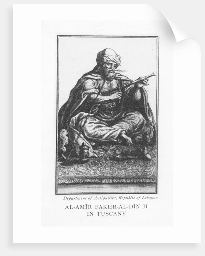Emir Fakhr-al-Din II by English School