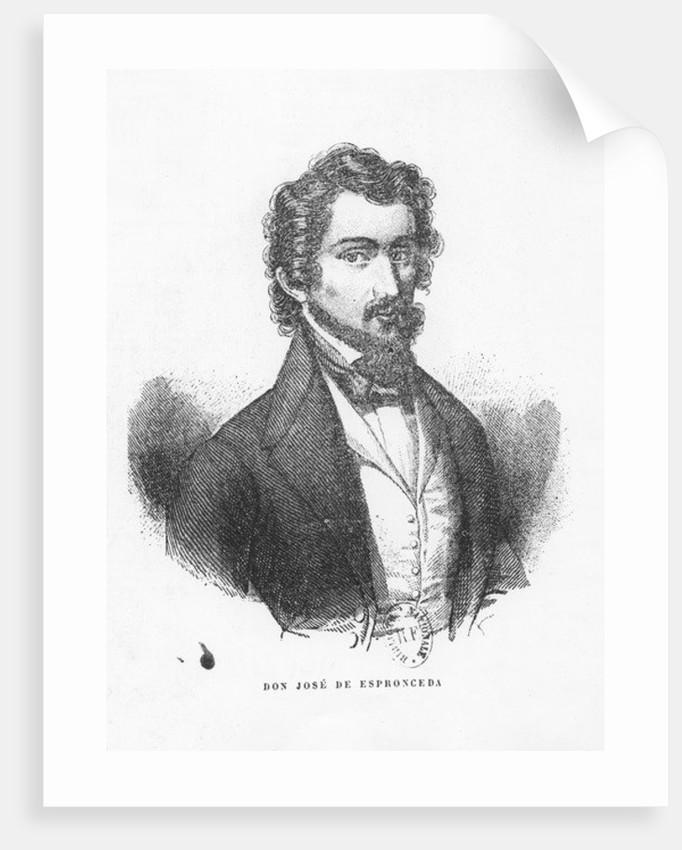 Don José de Espronceda by Spanish School